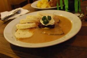 Svickova na smetane – Beef Sirloin with Cream Sauce